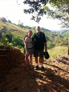 Owners Mitchell and Angelika on a hike in Central America