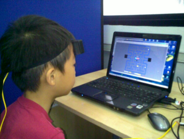 pIR-HEG Neurofeedback client at Sadar Psychology and Sports Center