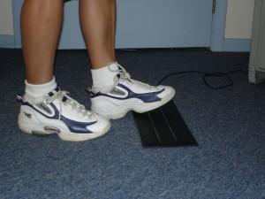 Feet on interactive metronome